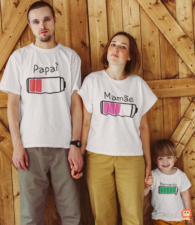 Kit Camisetas Família Baterias