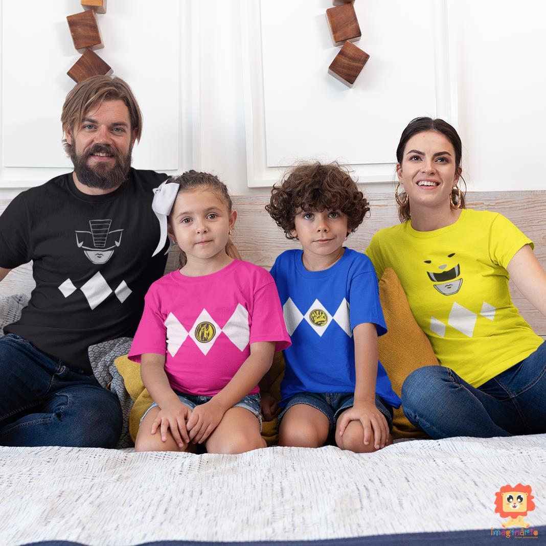 Kit Camisetas Família Power Rangers