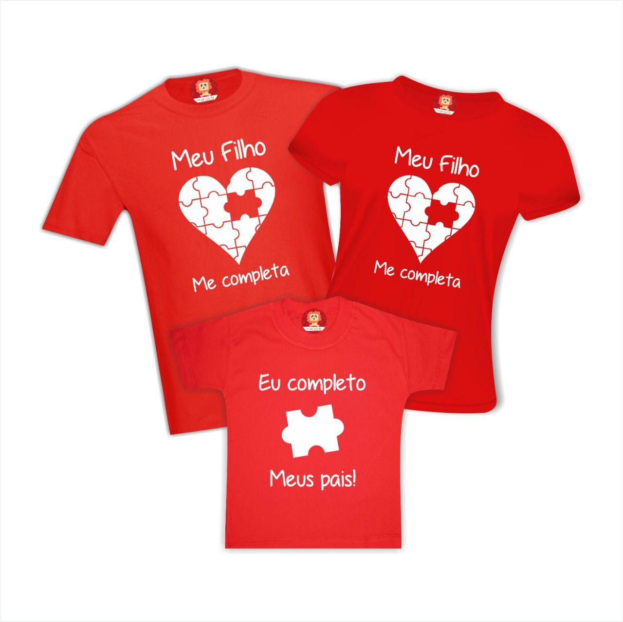 Kit Camisetas Família Quebra-Cabeça