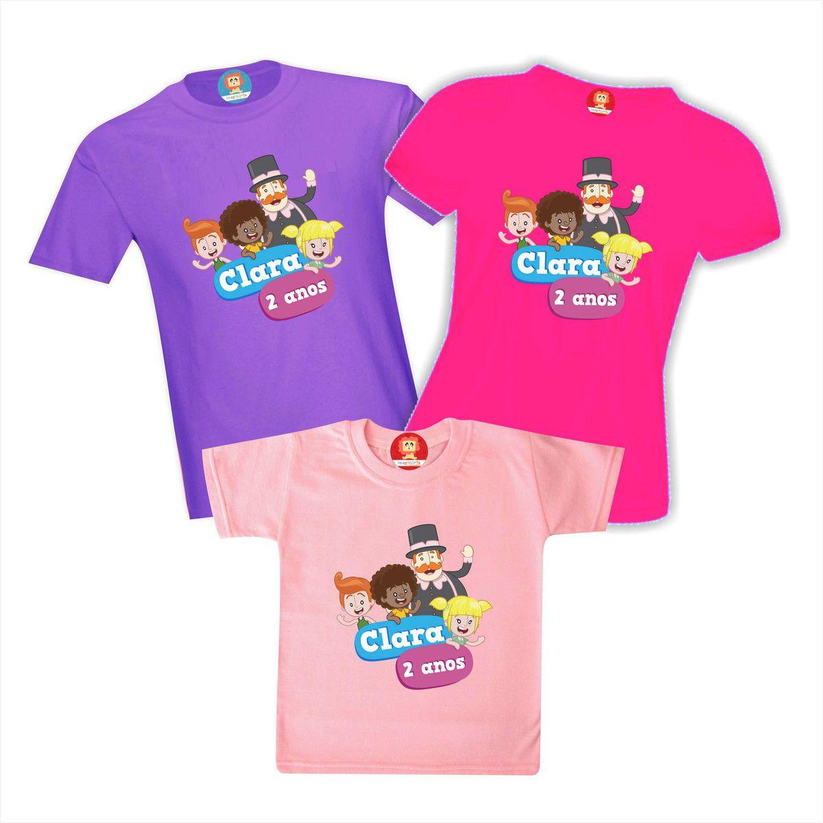 Kit Camisetas Festa Bita para Menina Personalizadas Com Nome