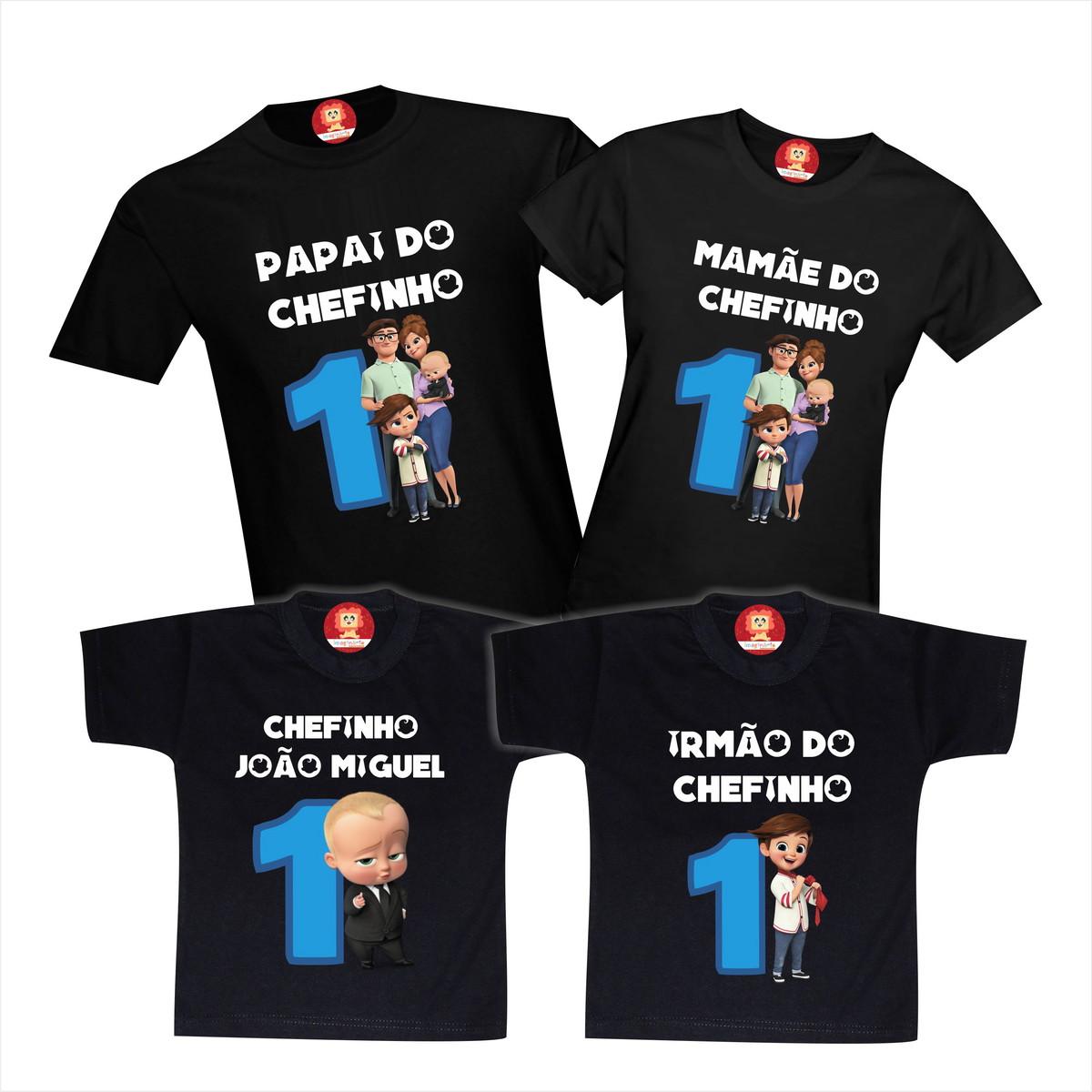 Kit Camisetas Festa de Aniversário Poderoso Chefinho