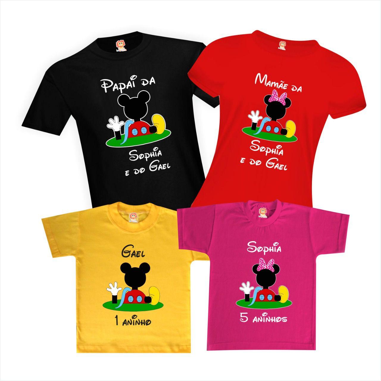 Camisetas de Aniversário A Casa do Mickey Mouse da Disney
