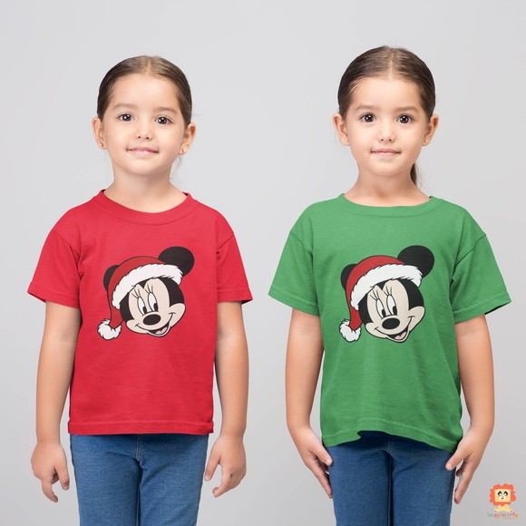 Kit Camisetas Irmãs Gêmeas Primas de Natal Minnie