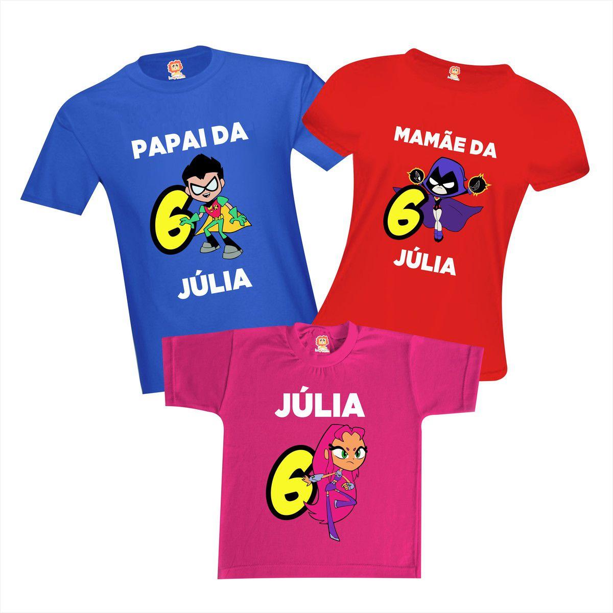 Kit Camisetas Jovens Titãs - Teen Titans Go