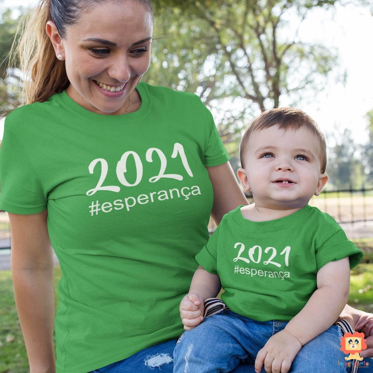 Kit Camisetas Mãe e Filho(a) Reveillon 2021 Esperança