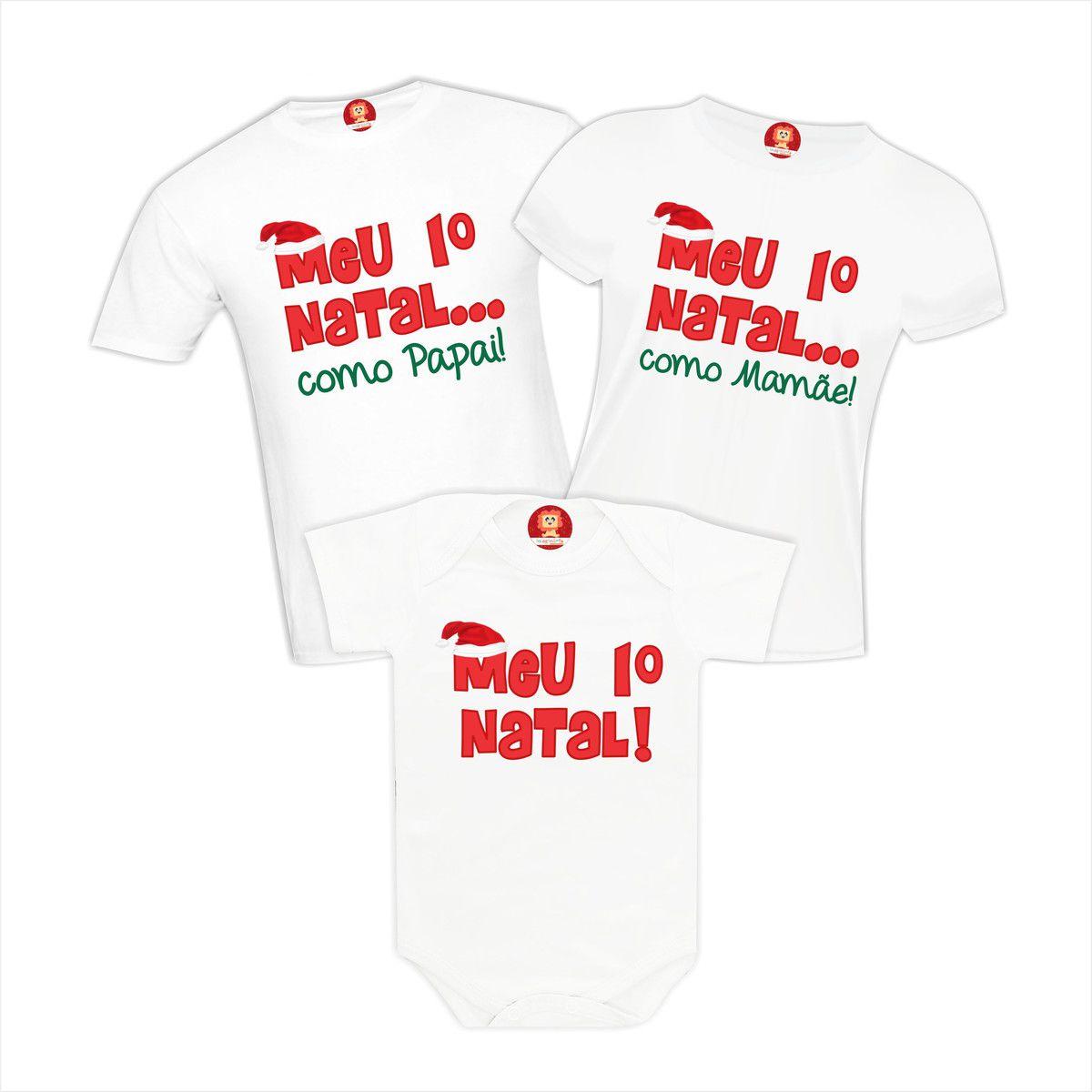 Kit Camisetas Meu Primeiro Natal