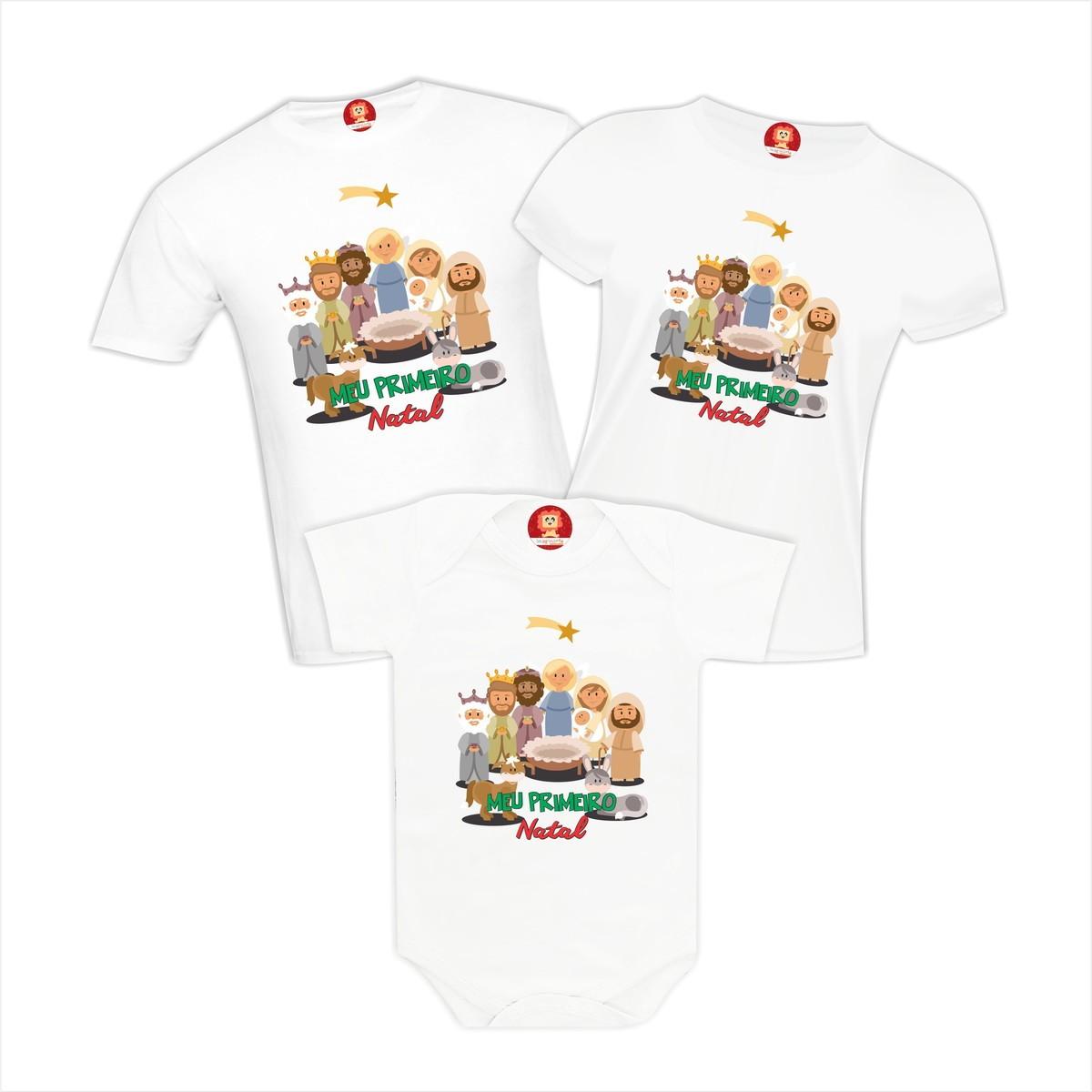 Kit Camisetas Meu Primeiro Natal Presépio