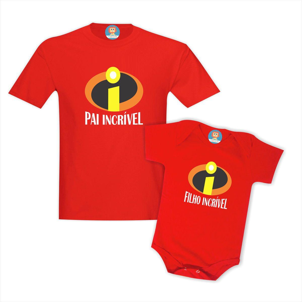 Kit Camisetas Pai e Filho(a) Incrível
