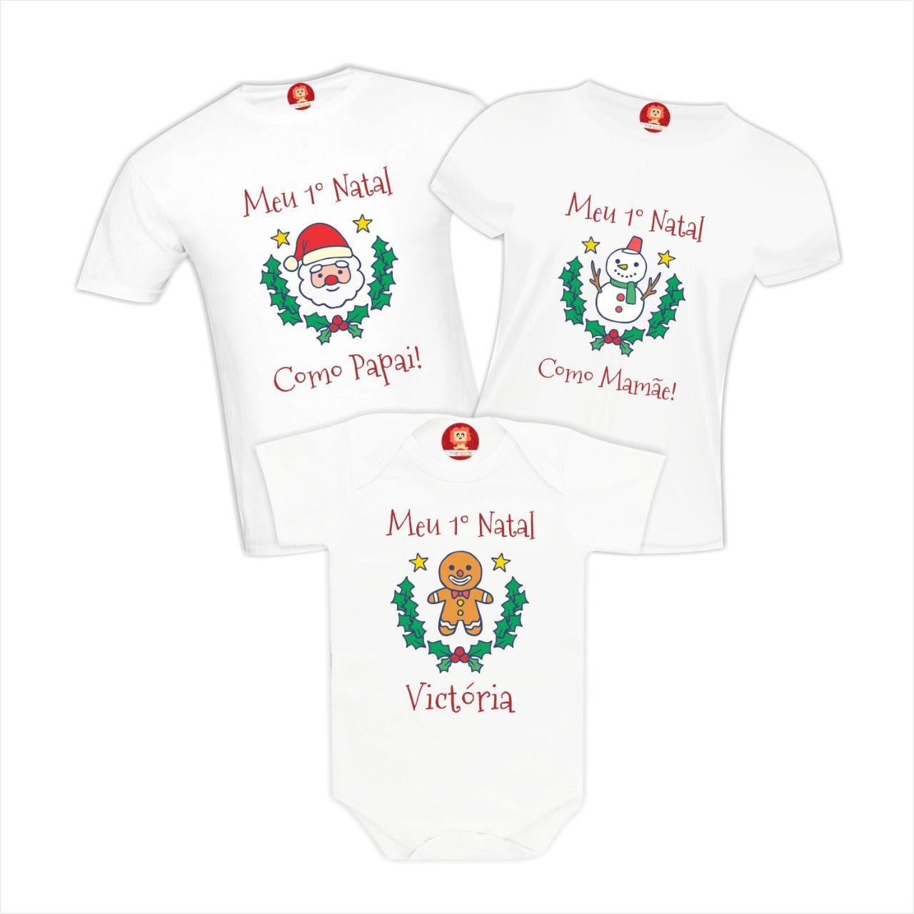 Kit Camisetas para Família de Natal