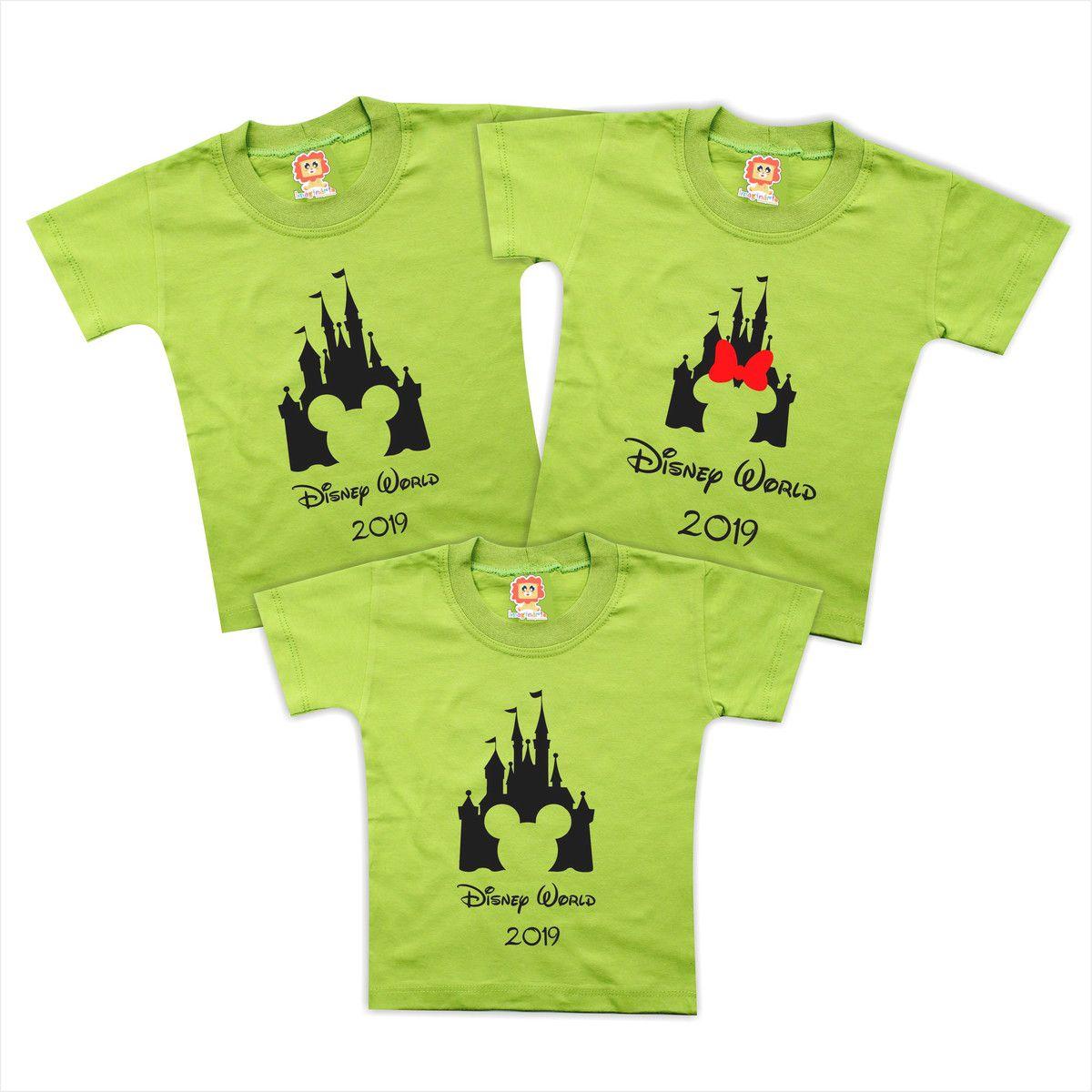 Kit Camisetas Personalizadas Disney Mickey e Minnie Viagem Orlando