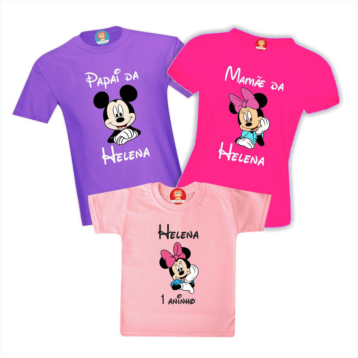 Kit Camisetas Personalizadas Festa Minnie Rosa