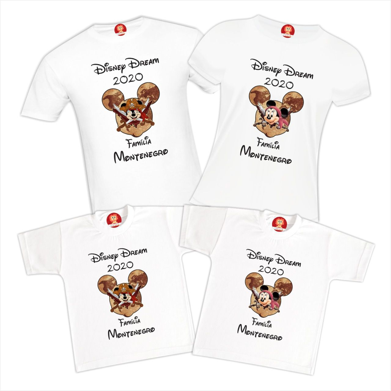 Kit Camisetas Viagem Disney Dream