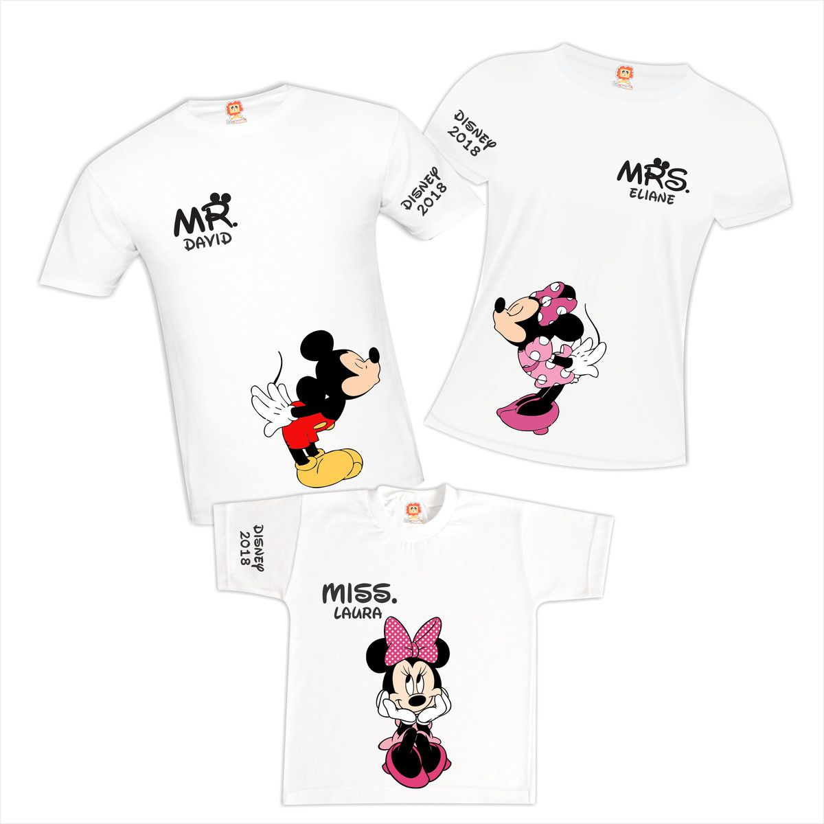 Kit Camisetas Viagem Disney Magic Kingdom