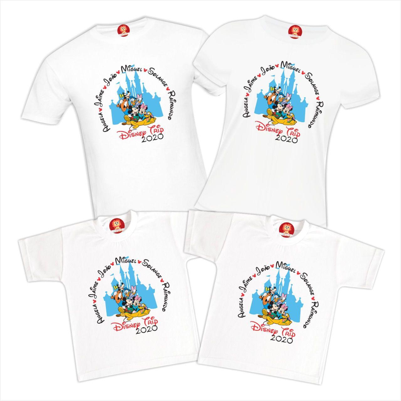 Kit Camisetas Viagem Disney Trip