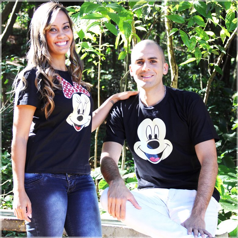 Kit Camisetas Casal Mickey e Minnie