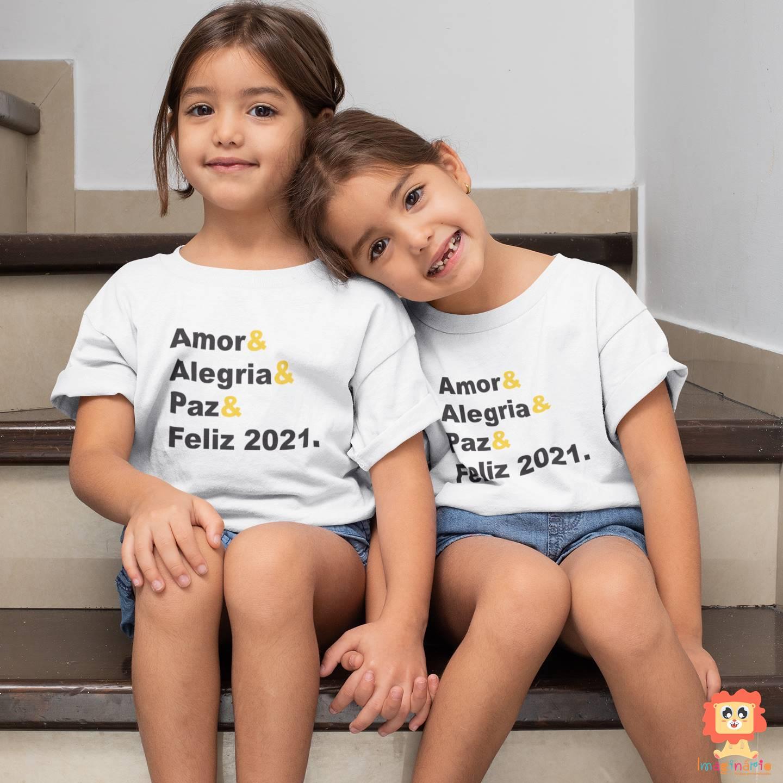 Kit com 2 peças Infantis Feliz Ano Novo 2021