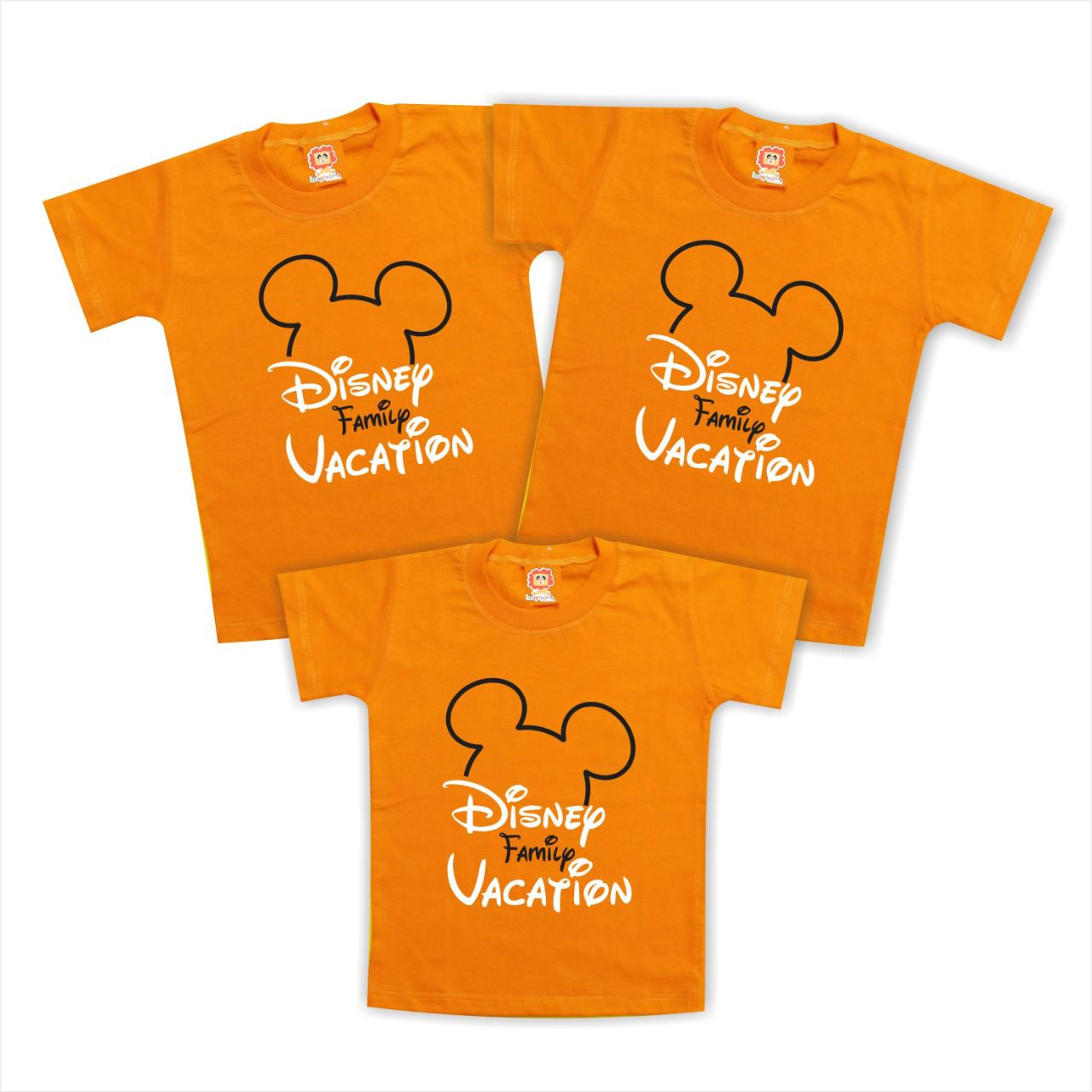 Kit Com 3 Camisetas Viagem Disney Personalizadas Mickey