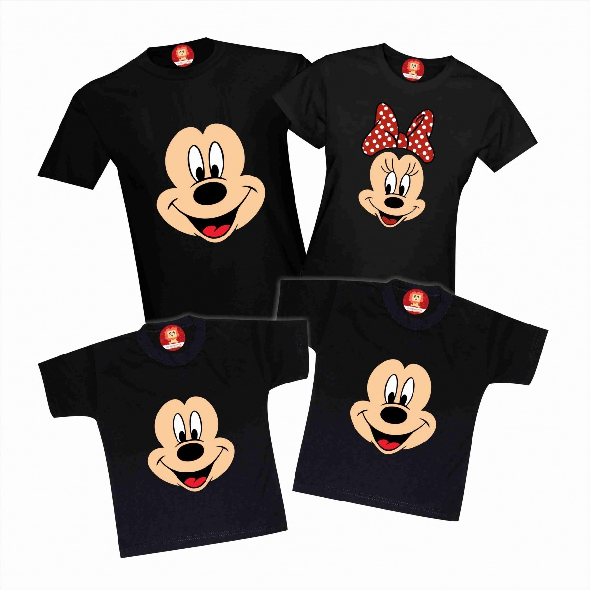 Camisetas Mickey e Minnie Família