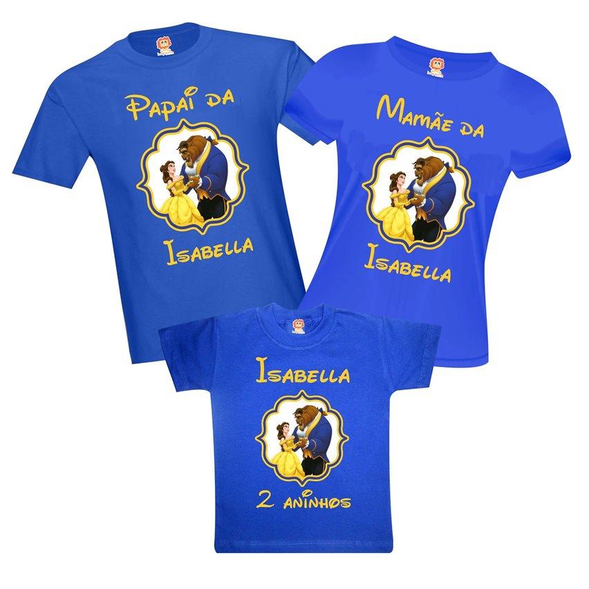 Kit Camisetas Festa A Bela e a Fera