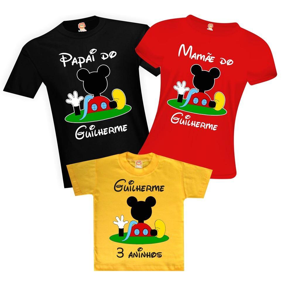 Camisetas Aniversário A Casa do Mickey