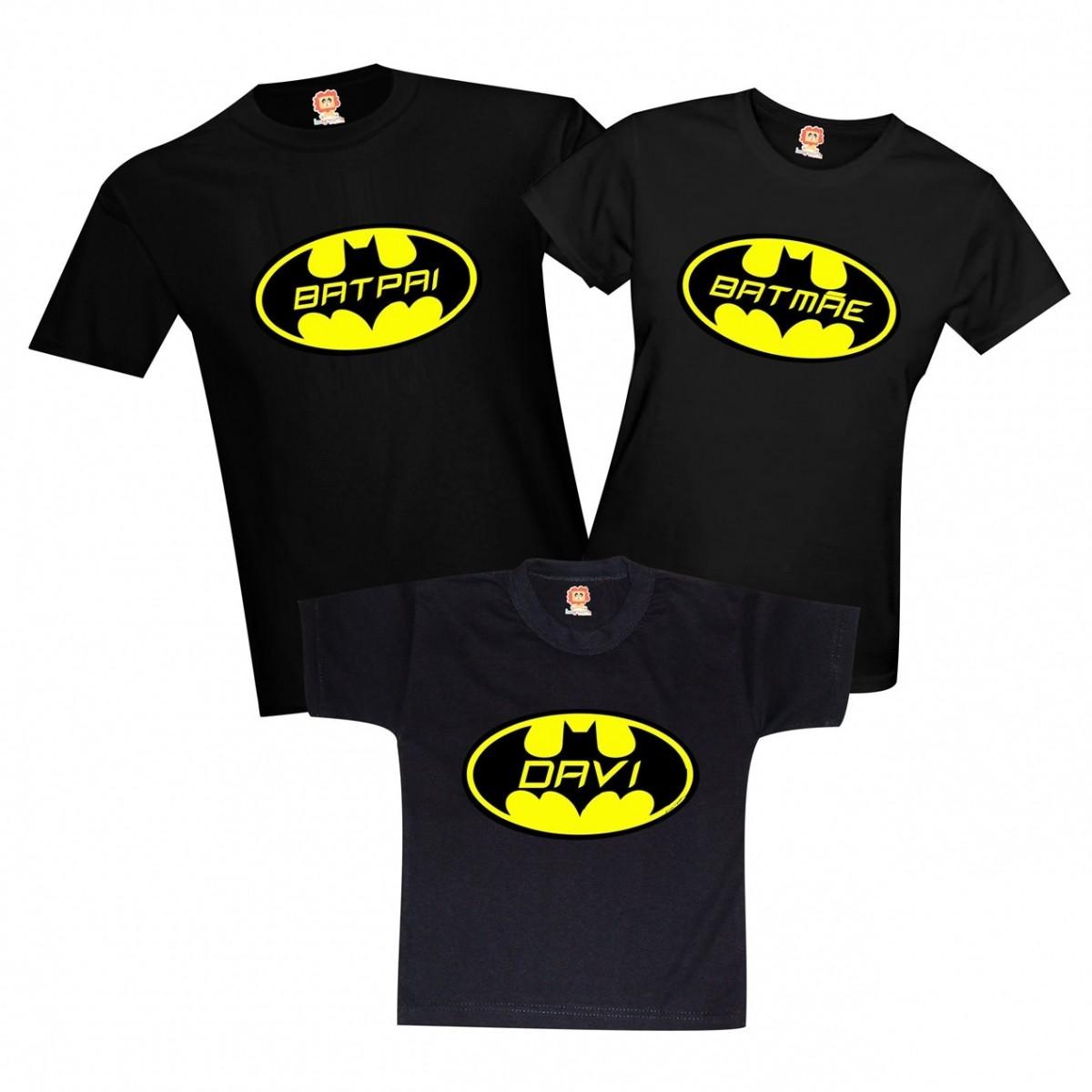 Camisetas BATPAI - BATMÃE - BATFILHO