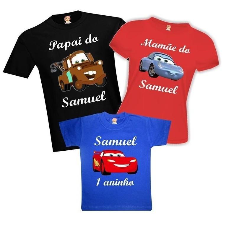 Camisetas de Aniversário Carros da Disney