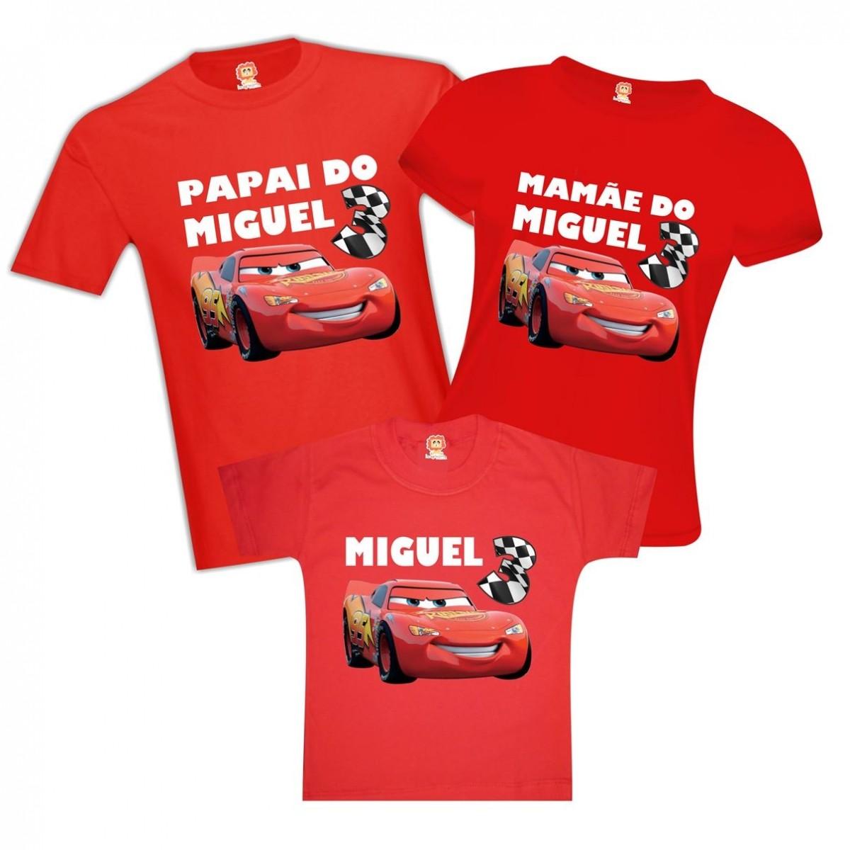 Camisetas de Aniversário Carros Disney - Relâmpago Mcqueen