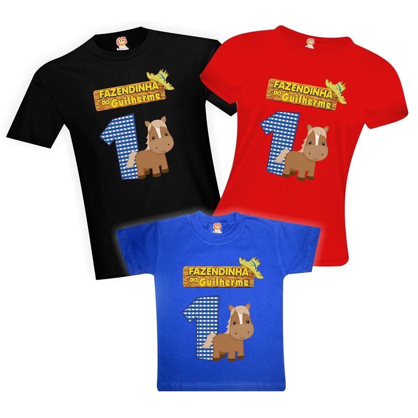 Camisetas de Aniversário Fazendinha Personalizadas