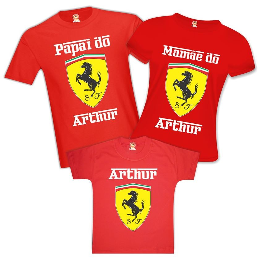 Camisetas de Aniversário Ferrari