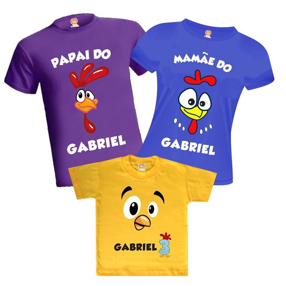 Camisetas de Aniversário Galinha Pintadinha