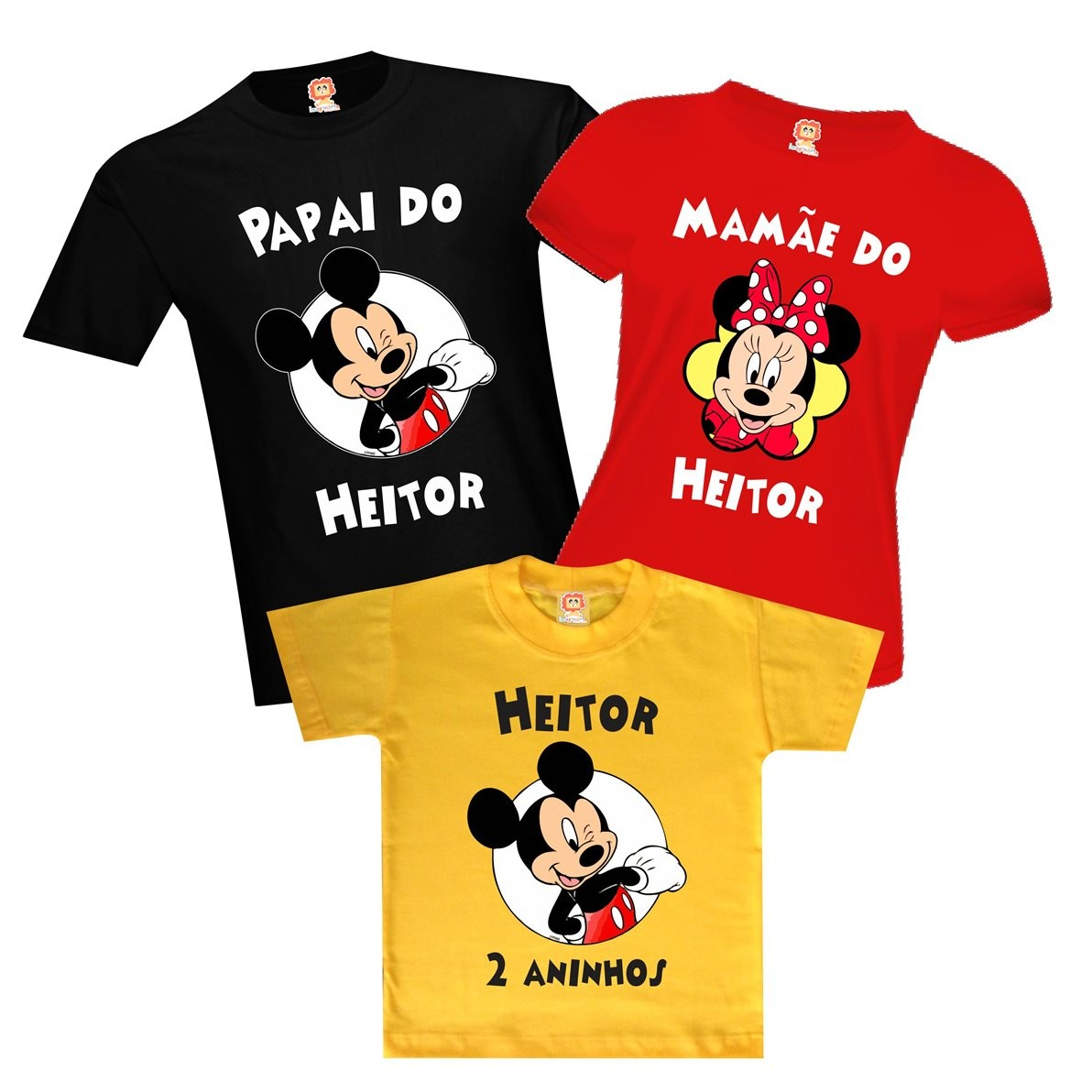Camisetas Festa Mickey Mouse da Disney