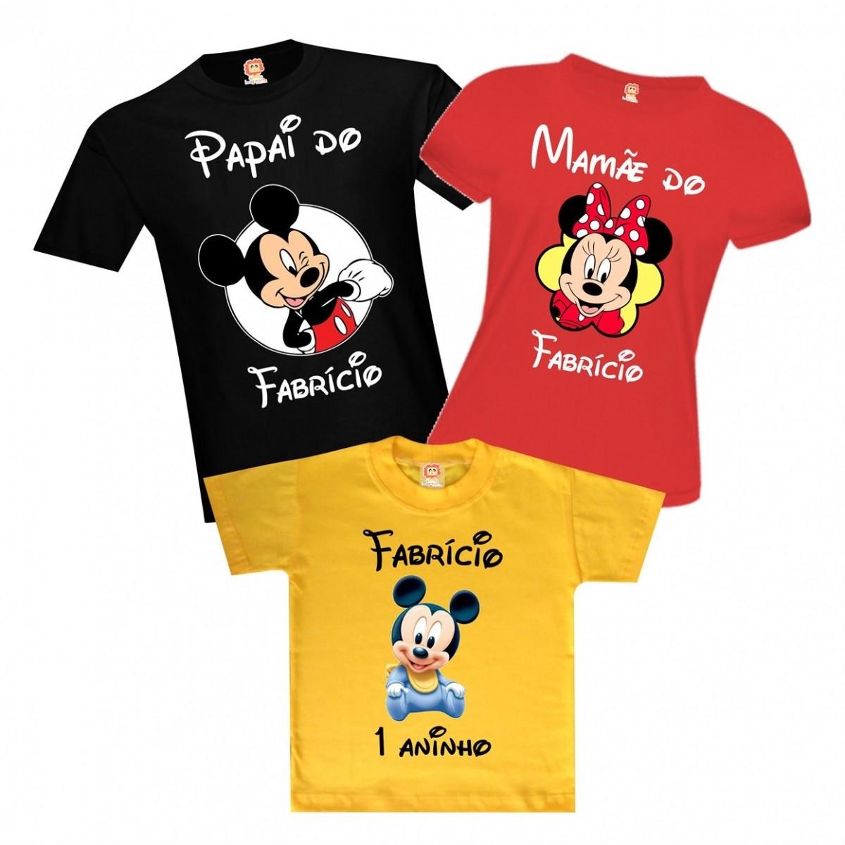 Camisetas Aniversário Mickey Baby