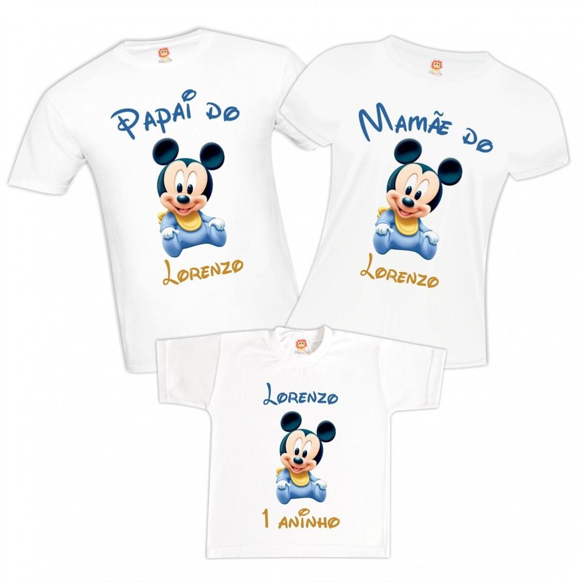 Camisetas de Aniversário Mickey Baby