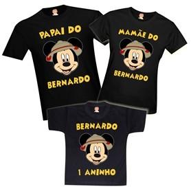 Camisetas de Aniversário Mickey Safari