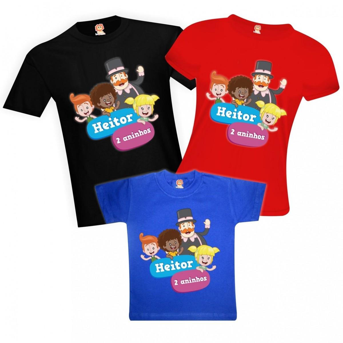 Camisetas de Aniversário Mundo Bita