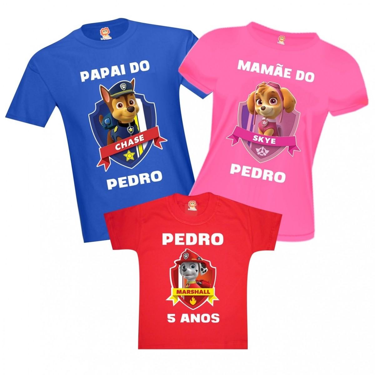 a5ee6a2207a89 Camisetas de Aniversário Patrulha Canina