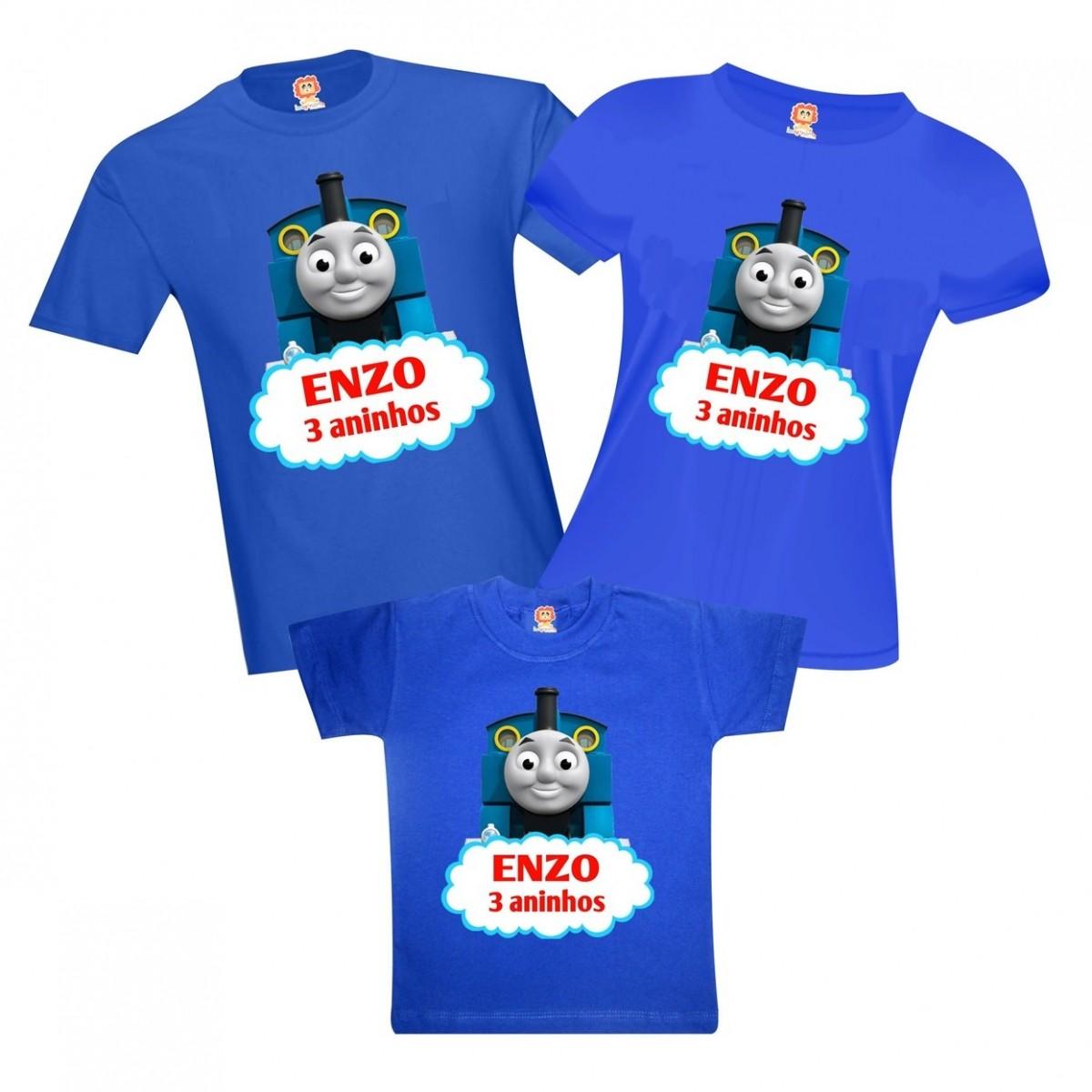 Camisetas Thomas e Seus Amigos Aniversário