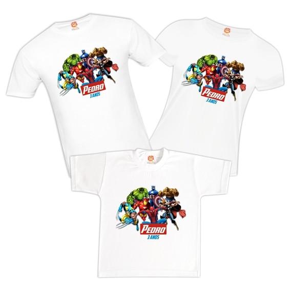 Camisetas de Aniversário Vingadores