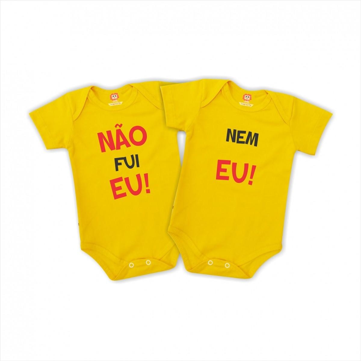 Body ou Camiseta Não Fui Eu - Nem Eu  Irmãos Gêmeos