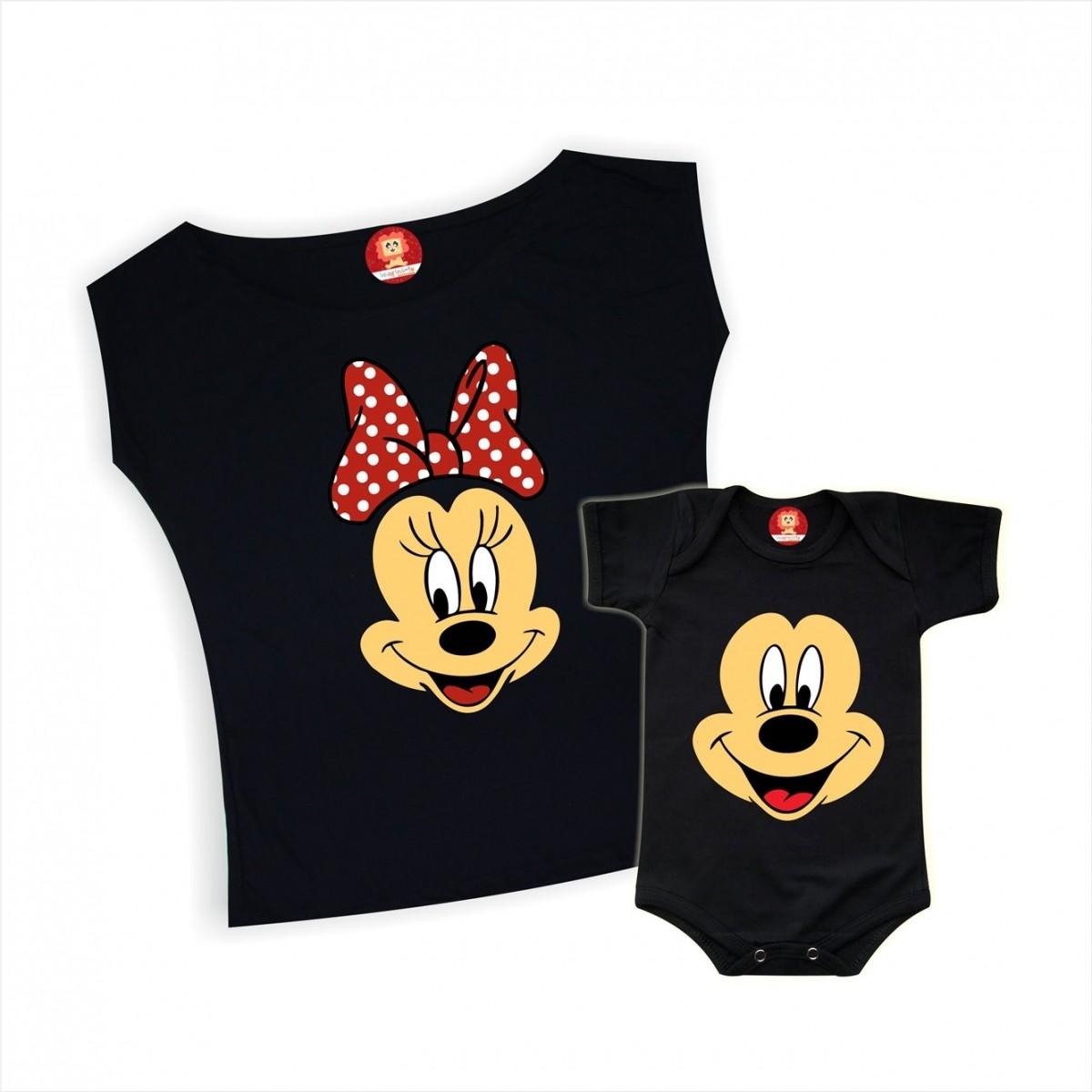 Kit Mãe e Filho(a) Mickey e Minnie