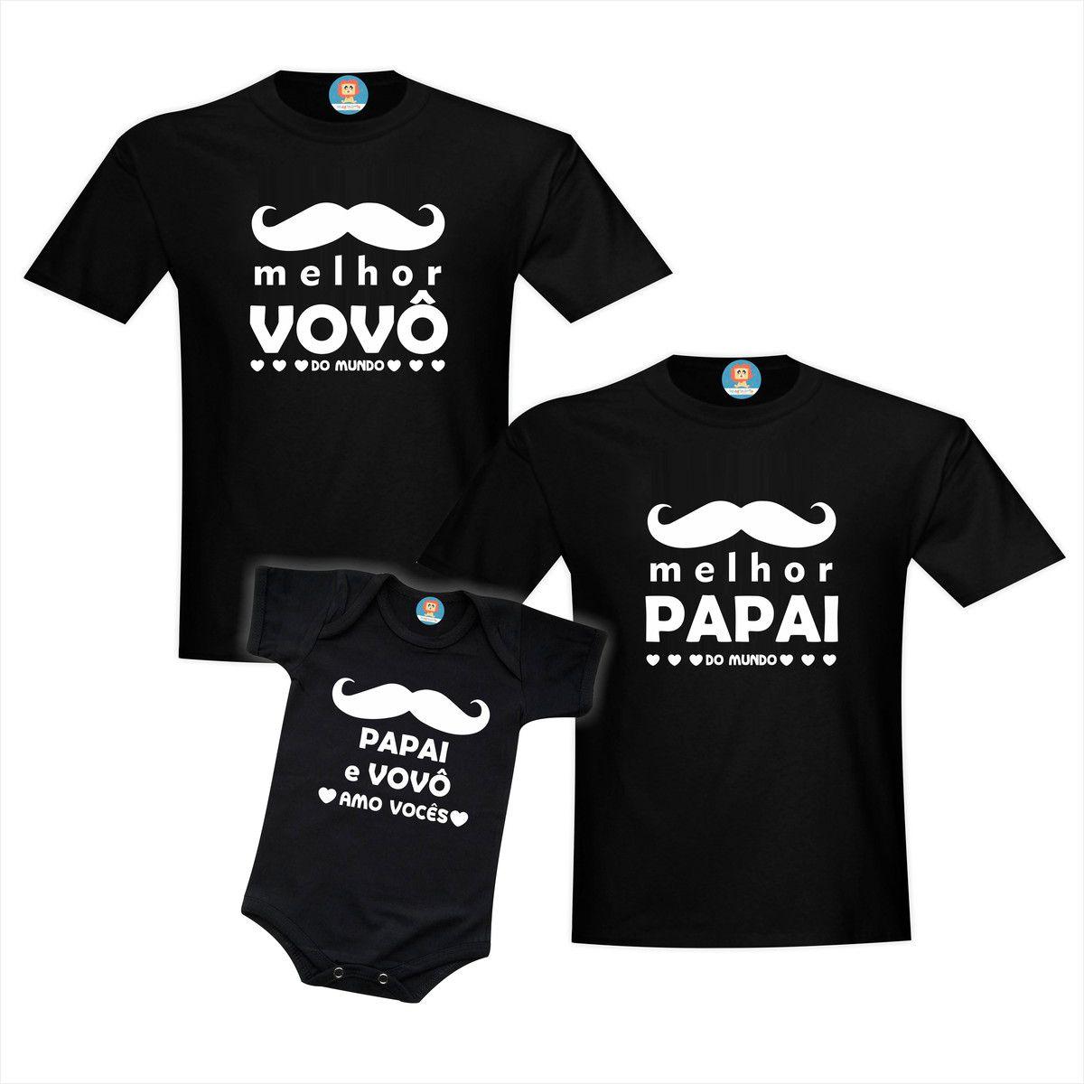 Kit Melhor do Mundo Vovô, Papai e Filho