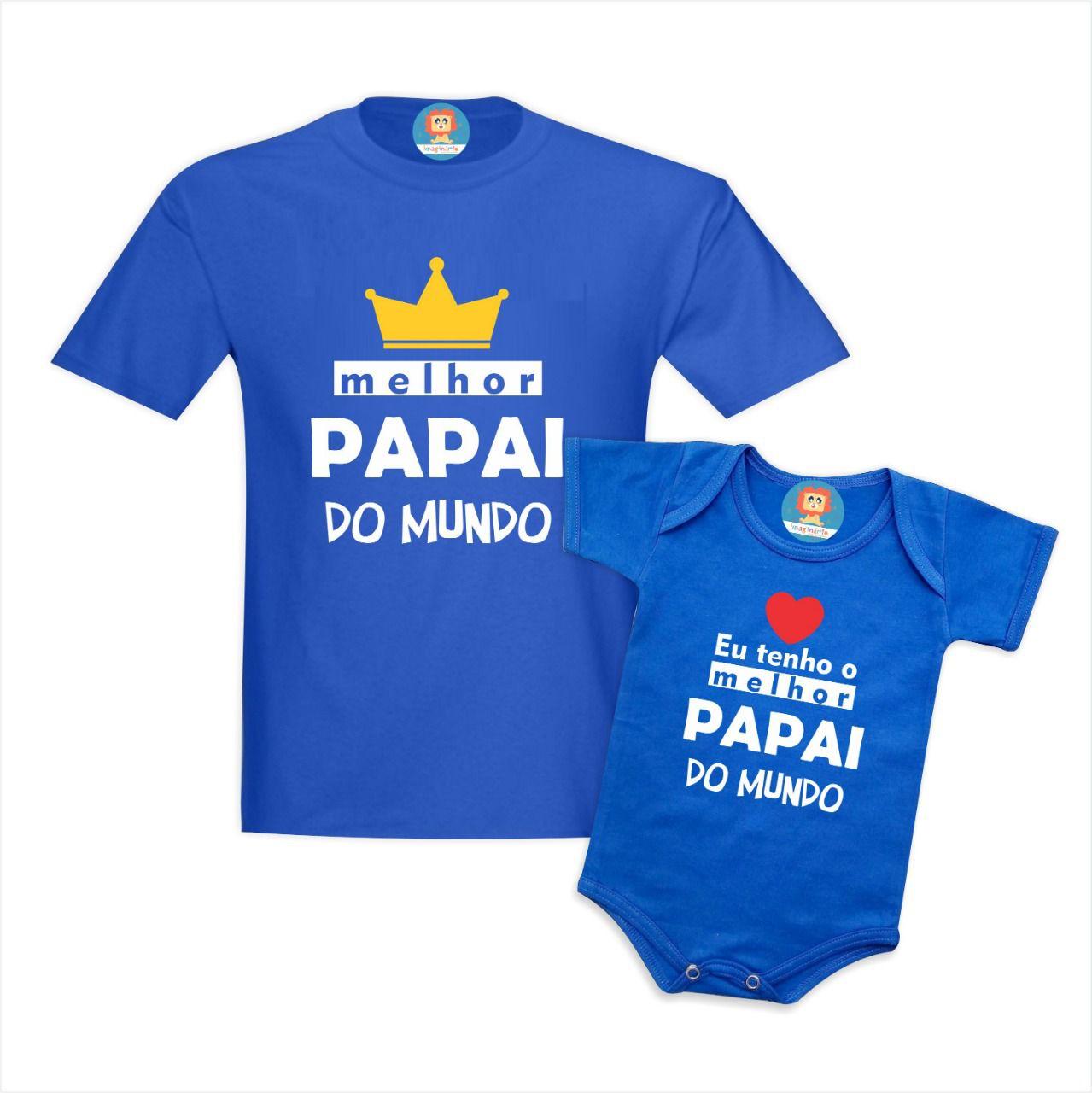 Kit Melhor Papai do Mundo Coroa e Coração