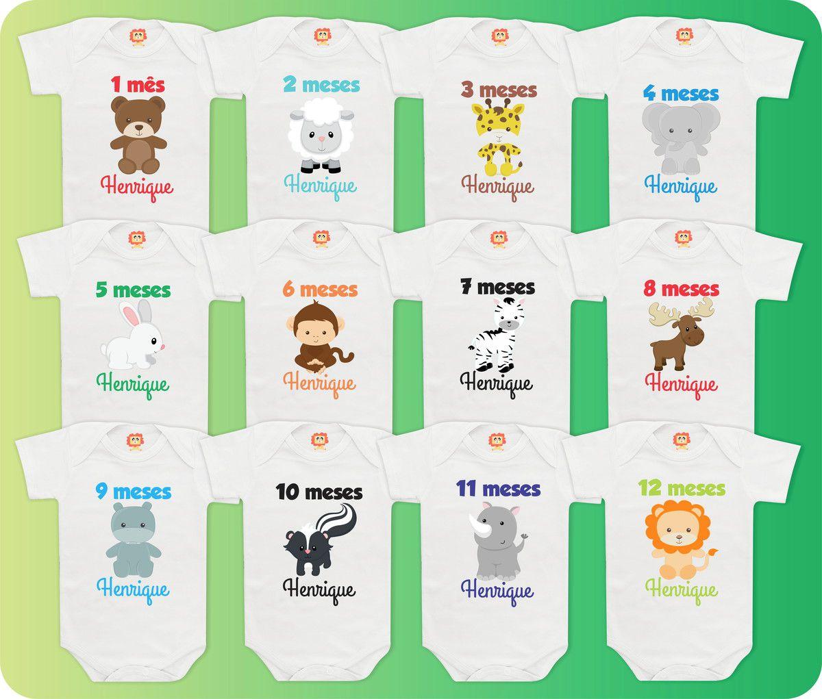Kit Mesversário Safari Personalizado com Nome
