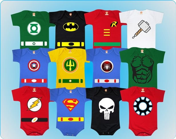 Kit 12 Bodys Mesversário Super Heróis