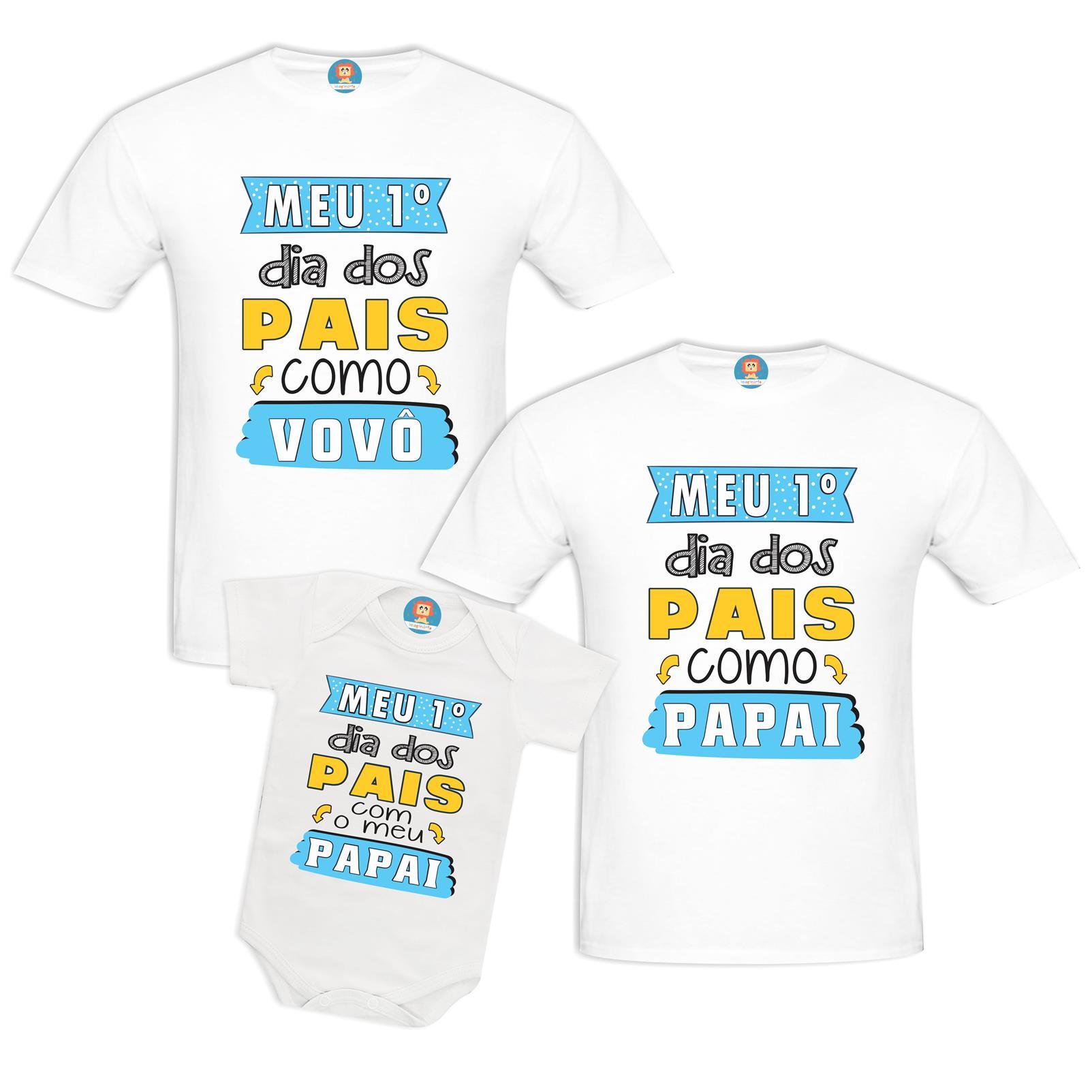 Kit Meu Primeiro Dia dos Pais Vovô Papai e Bebê