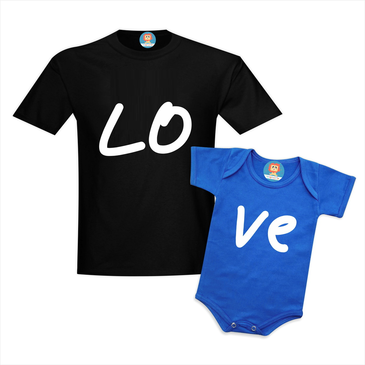 Kit Pai e Filho(a) LOVE Presente Dia dos Pais
