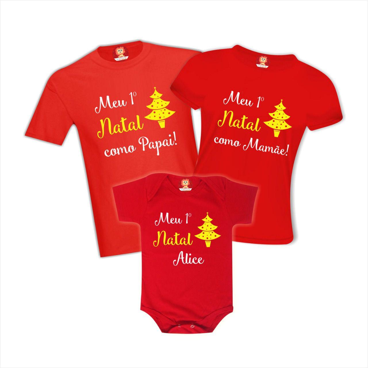 Kit Primeiro Natal em Família Árvore Dourada