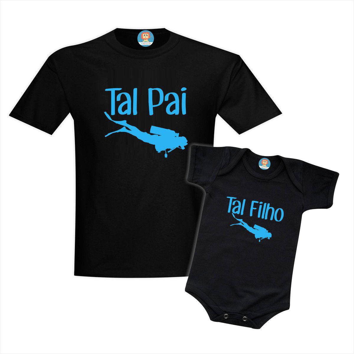 Kit Tal Pai Tal Filho Mergulhador