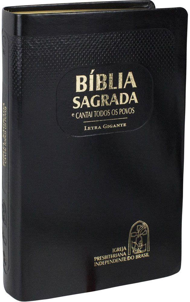 Bíblia com CTP - RA, Letra GIGANTE, Preta, Capa emborrachada