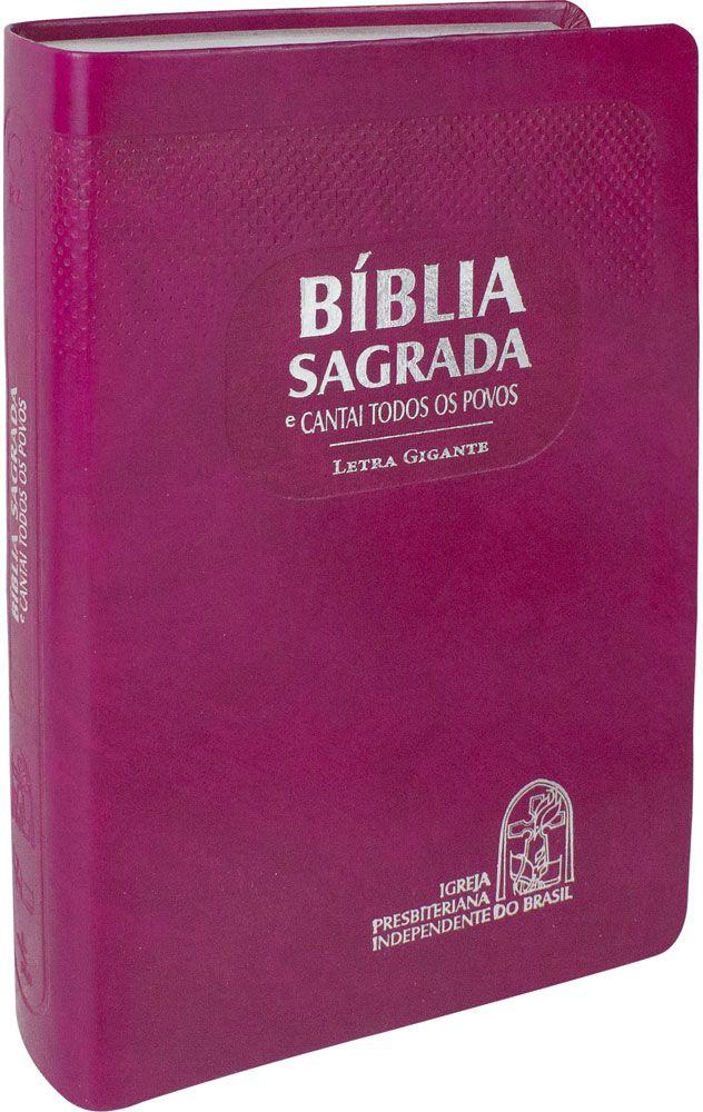 Bíblia com CTP - RA, Letra GIGANTE, Púrpura, Capa emborrachada